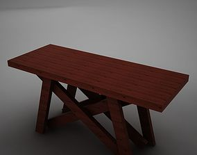 High def Dining Room Buffet Table 3D model