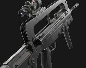 3D model Famas F1 Assault Rifle