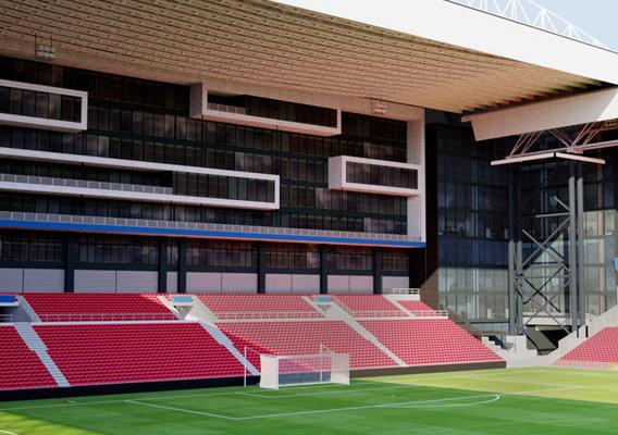 Parken Stadium - Copenhagen Denmark 3D model