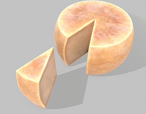 Parmesan Cheese Wheel 3D model