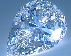 Diamond Pear Cut 3D