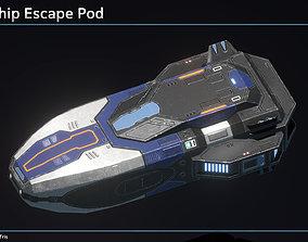 Spaceship Escape Pod 3D model low-poly