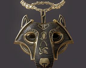 3D model Wolf Pendant