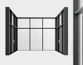 3D asset Panoramic windows Door Entrance 4