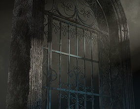 Old Forged gate 3D asset