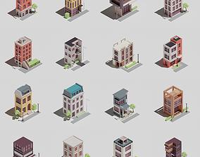 Four-sided buildings 1 3D asset