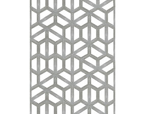 Concrete Hexagonal Wall Panel 3D model