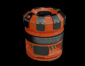 3D asset game-ready Sci Fi Capsule