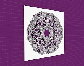Mandala 3D model geometric