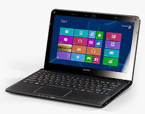 Sony VAIO SVE1112M1R-B laptop 3D asset