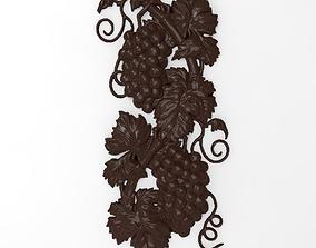 3D print model Grapes bas relief for CNC