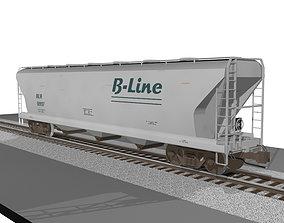 Train Car - Grain Hopper - C4D Format 3D