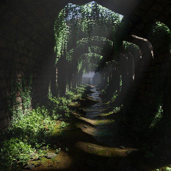 Tunnel Ruins Scene   Scene 48