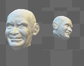 miniatures Actor Louis de Funes 3D head