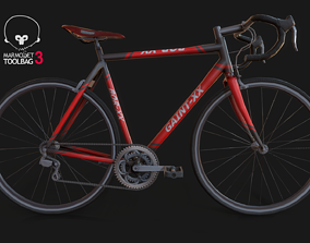 3D asset game-ready PBR Bicycle