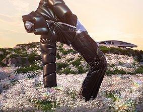 3d Fashion Rick Owens X Moncler Puffer Jacket Clothing 1