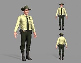 Policeman Sheriff 3D asset