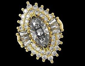 398 Diamond Ring for women 3D print model