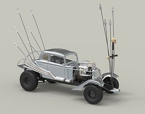3D model Nux car from the movie Mad Max Fury road