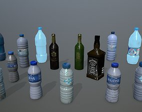 bottle set 3D model