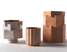 planters 3D model Column and Hex Planters