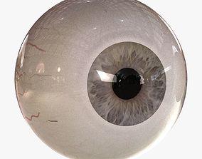 pupil 3D model Rigged Eyes