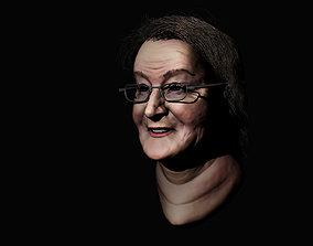 3D model Older Lady - Realistic Sculpt - Buste