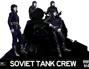 3D model Soviet Tank Crew WWII