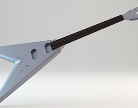 3D printable model V electric guitar original design CNC 3