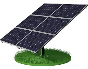 Solar battery 3D model cell