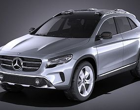 3D model Mercedes Benz GLA Concept 2014 VRAY