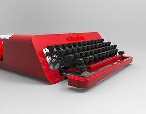 3D Olivetti Valentine typing machine