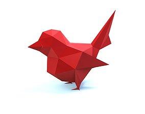 3D printable model low poly bird