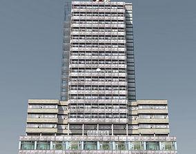 3D asset Modernist Highrise