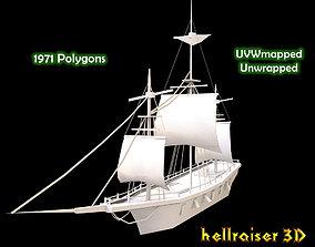 Medieval Ship 3D asset VR / AR ready