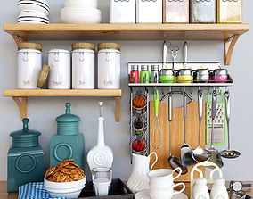 biscuit Decorative set for Kitchen 3D