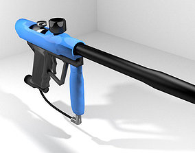 Paintball Marker - Speedball Type 1 3D model