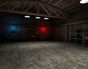 3D model Garage for racing game
