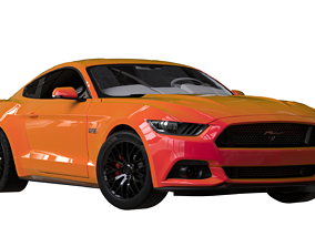 3D asset low-poly Ford Mustang GT