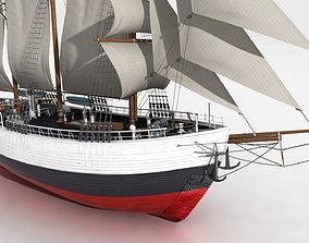 3D model FRAM Historical Ship
