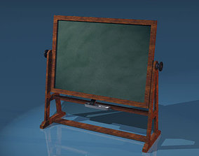 3D Old school blackboard