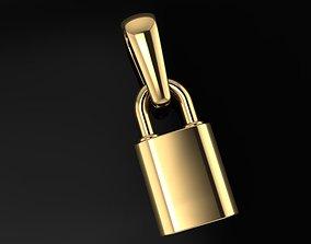 Dainty Lock Pendant 3D printable model
