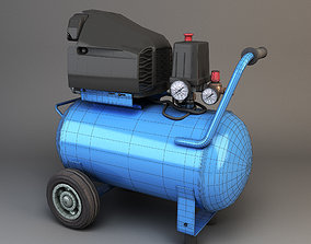 air compressor 3D asset VR / AR ready
