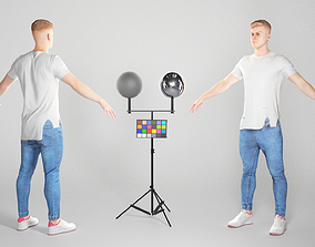 3D model Charming man in A-pose 121