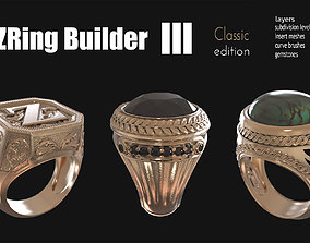 Zbrush jewelry Ring builder 3 classic 3D printable model