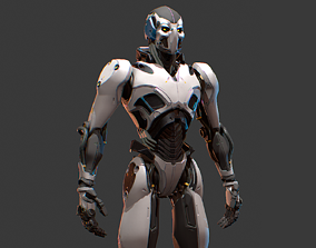 Sci-Fi Robot UE4 AAA Character with PBR materials 3D model