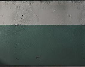 Green stucco walls 3D model