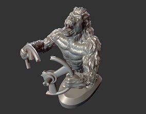 rabid gorilla decoration on the hood 3D printable model 2