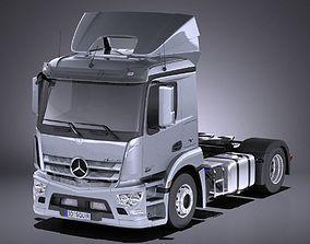 3D Mercedes Antos 2016 Semi Truck VRAY