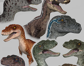 Extreme Raptor Collection - 8K - Animated 3D model